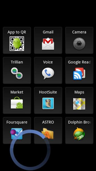 Swipepad on Samsung Galaxy S
