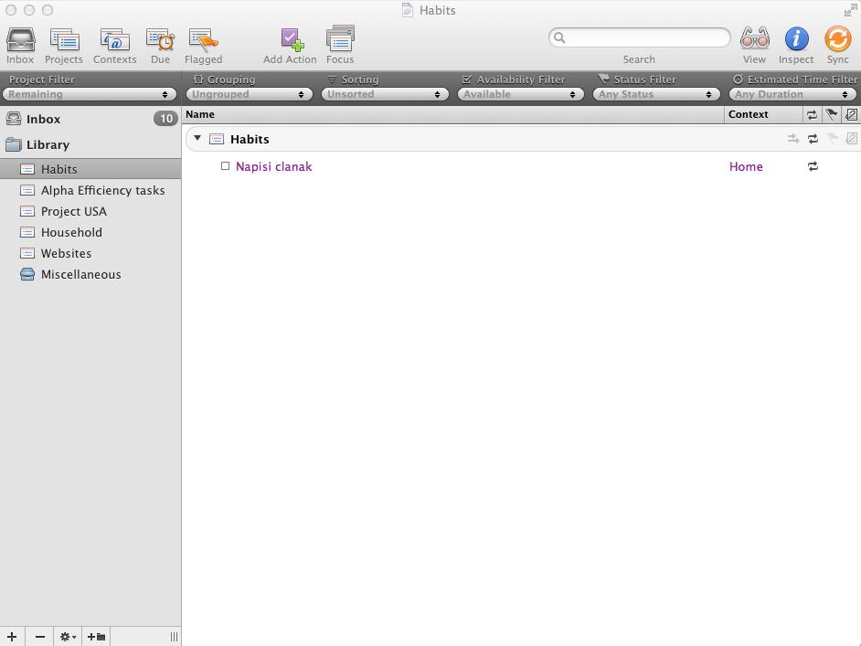 desktop client omnifocus