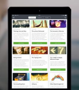 iPad Blinkist App Screenshot