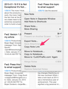 Evernote OS X Integration